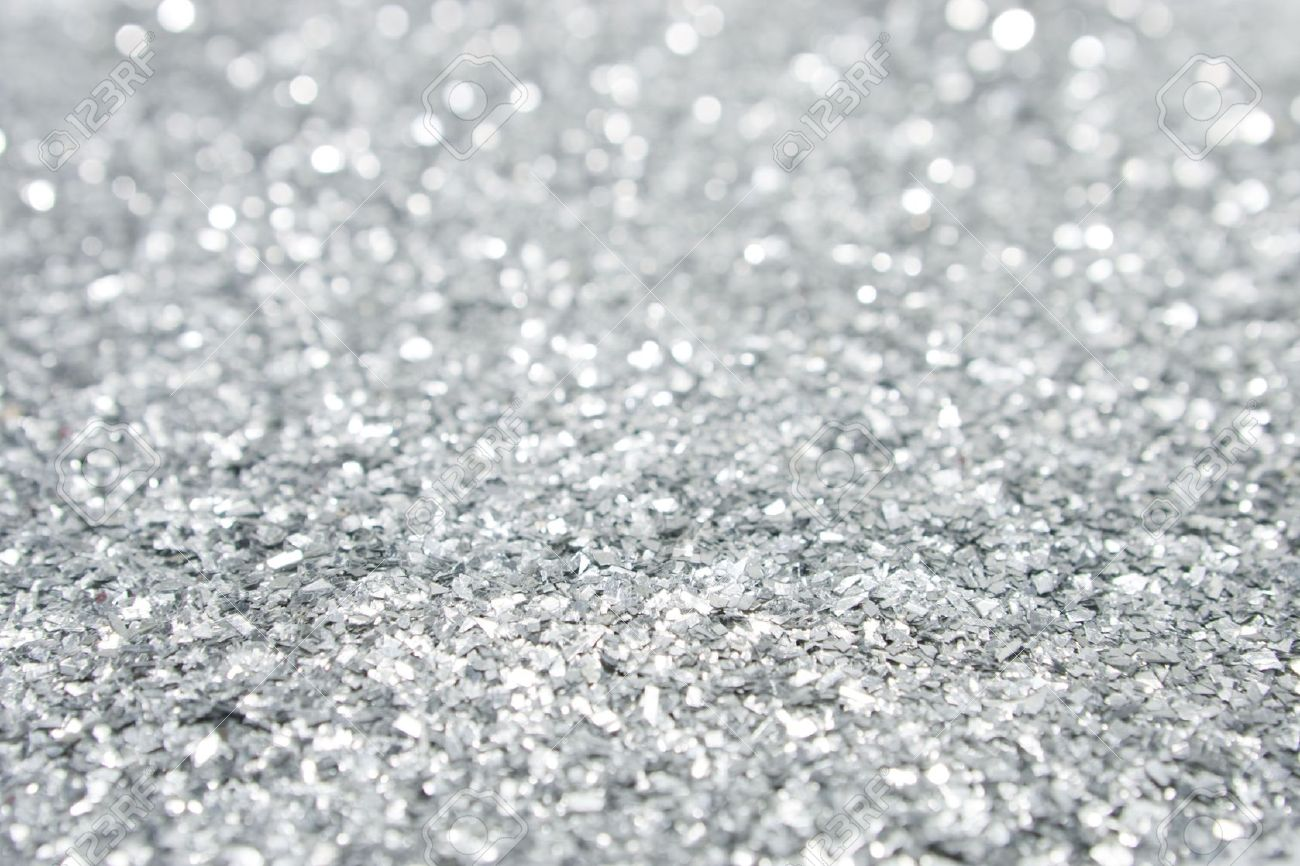 Lovely 5446623 Silver Glitter Close Up Stock Photo Background