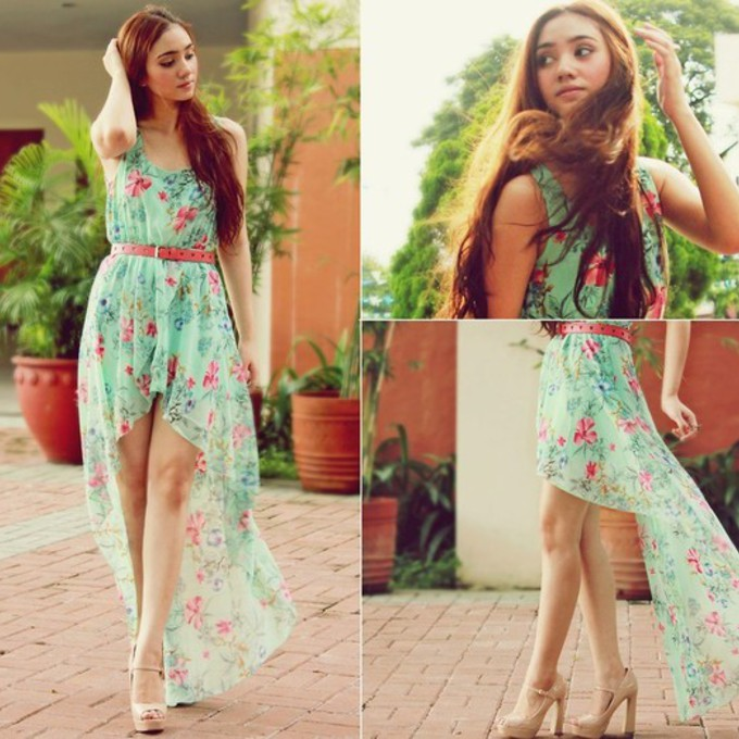 g1pts4-l-c680x680-dress-sea-green-flowers-flower-dress-sea-green-dress-pink-flowers-pink-belt-maxi-dress