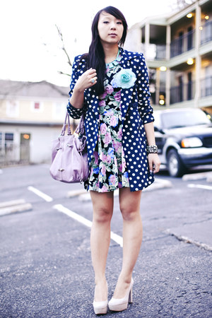 black-floral-asos-dress-navy-polka-dot-forever-21-coat
