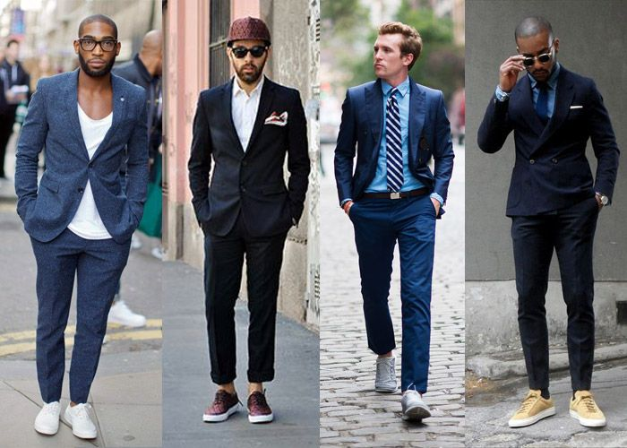How to wear formals with sneakers : Men