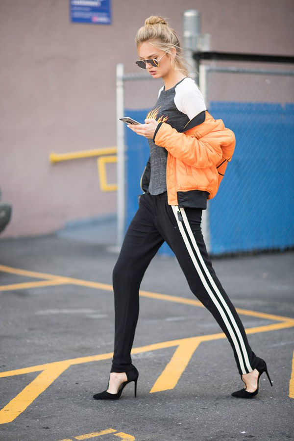 romee-strijd-street-style-new-york-track-pants