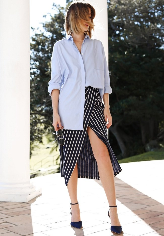 boyfriend-shirt-with-skirt